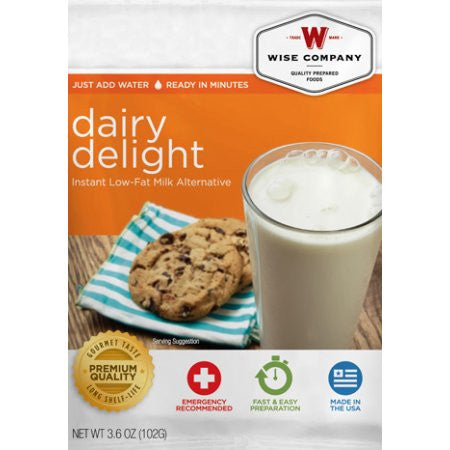 Wise Company Dairy Delight Instant Low-Fat Milk Alternative
