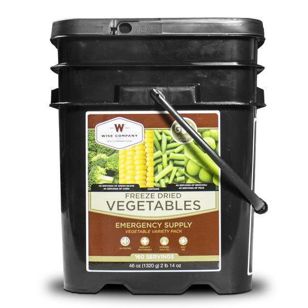 Gluten Free 160 Serving Freeze Dried Vegetables