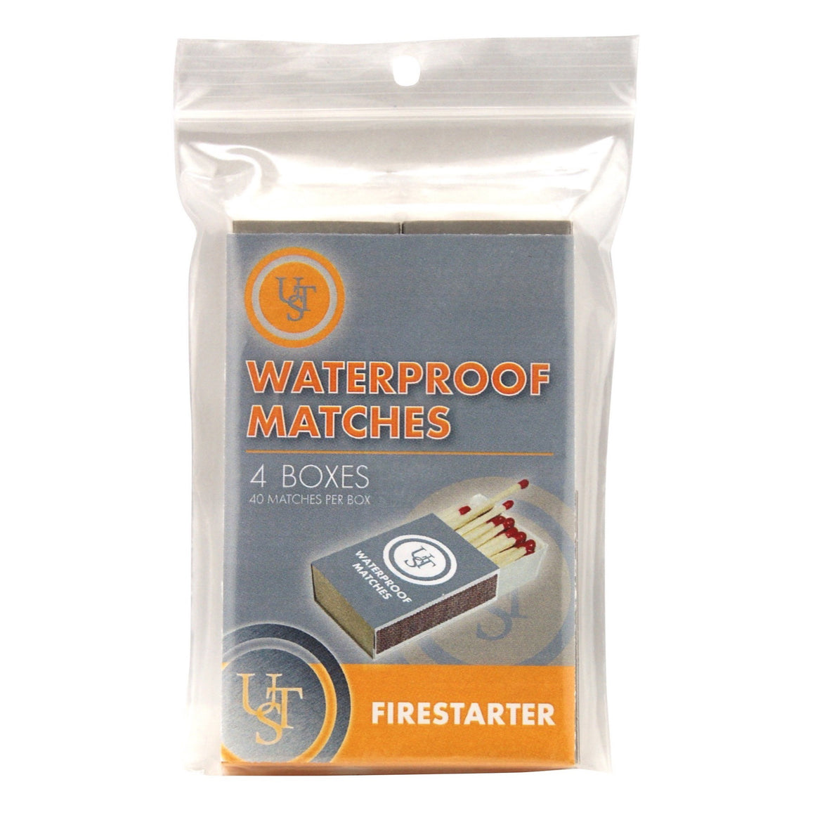 Waterproof Matches, 4 Pack