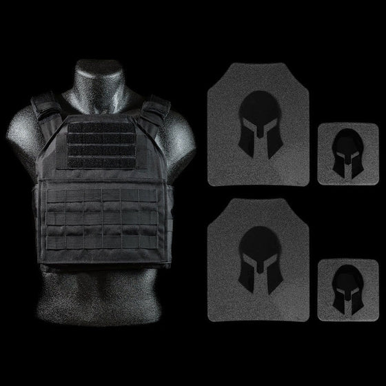 AR500 LEVEL III BODY ARMOR AND SPARTAN PLATE CARRIER PACKAGE *SPECIAL