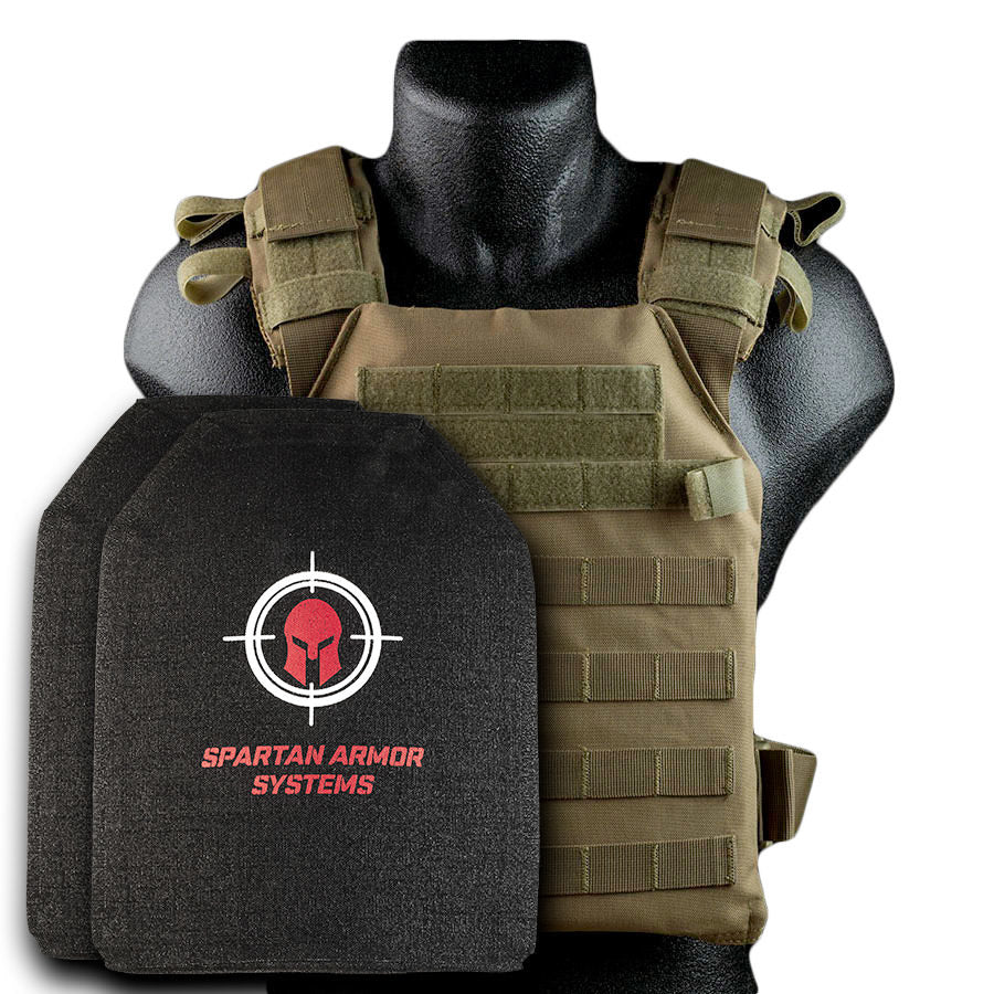 SPARTAN ARMOR SYSTEMS™ WITH CONDOR SENTRY PLATE CARRIER AND LEVEL IV SAPI CUT MULTI-CURVE PLATES
