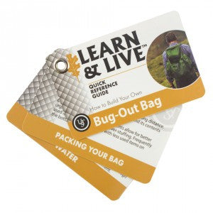 Learn & Live Bug Out Bag Cards