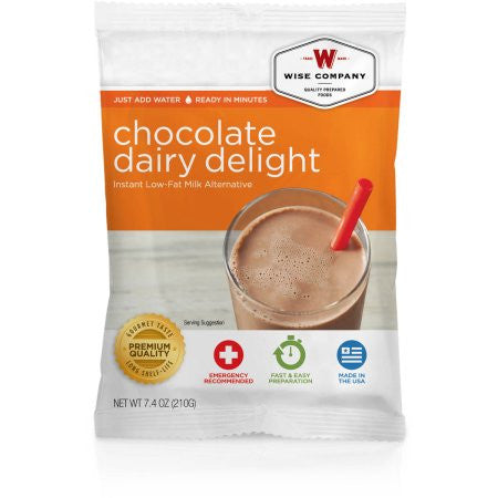 Wise Company Chocolate Dairy Delight Instant Low-Fat Milk Alternative