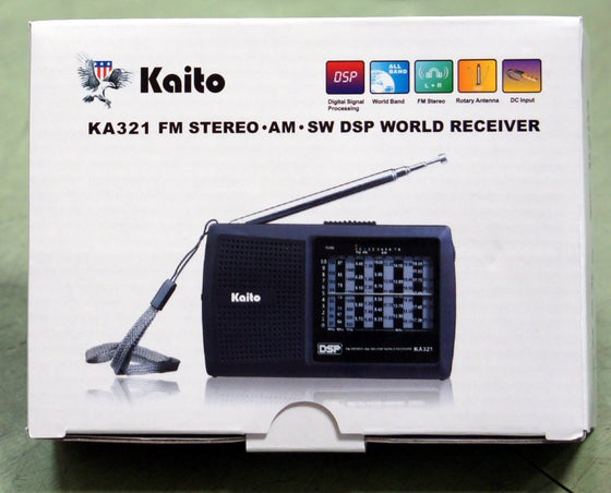 KAITO KA321 POCKET-SIZE 10-BAND AM/FM SHORTWAVE RADIO WITH DSP (DIGITAL SIGNAL PROCESSING)