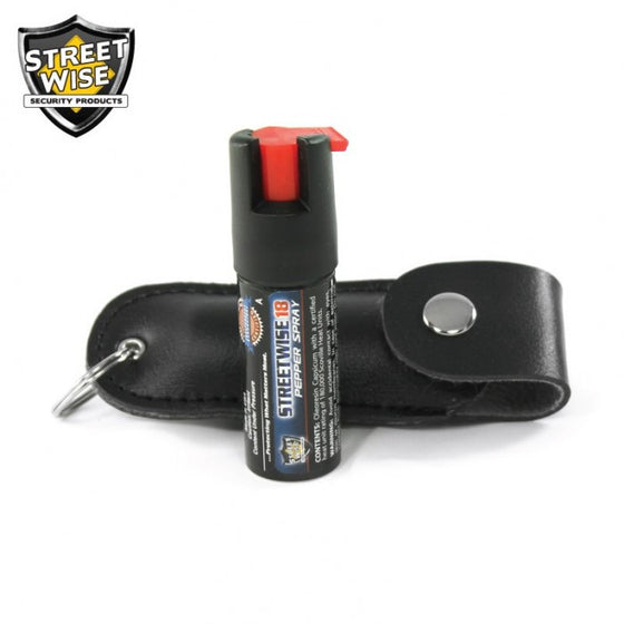 Streetwise Lab Certified Streetwise 18 Pepper Spray, 1/2 oz Safety Lock Key Ring