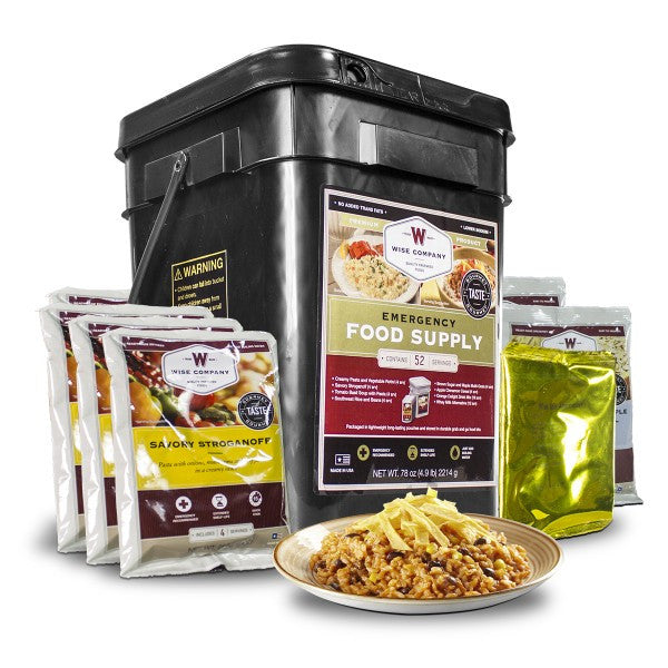 52 Servings of Wise Freeze Dried Emergency Food and Drink Storage
