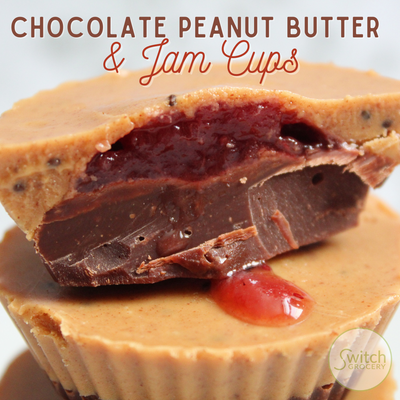 Chocolate Peanut Butter & Jam Cups