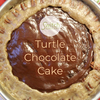 Sugar Free Keto Turtle Chocolate Cake