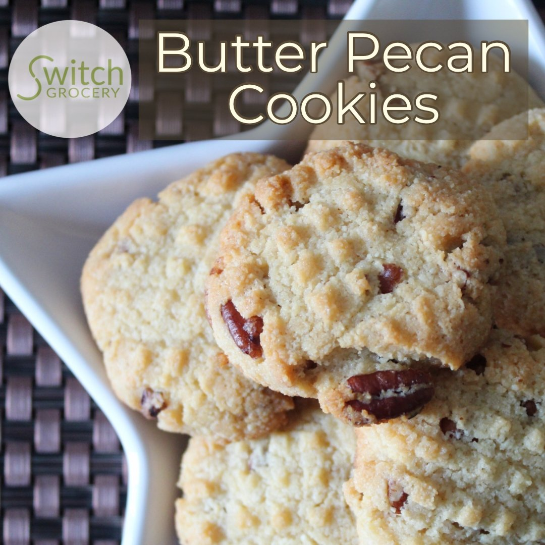 Butter Pecan Keto Christmas Cookies