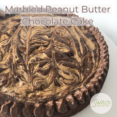 Marbled Peanut Butter Chocolate Cake