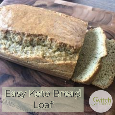 Easy Low Carb, Keto Friendly Bread Loaf