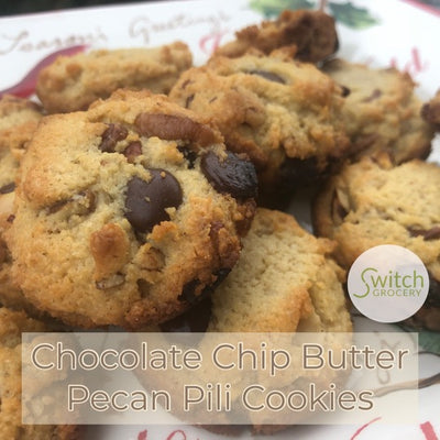 Chocolate Chip Butter Pecan Pili Cookies