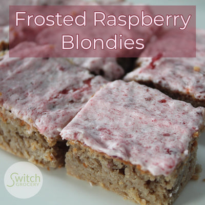 Frosted Raspberry Blondies