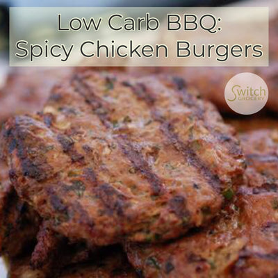 Low Carb BBQ: Spicy Chicken Burgers