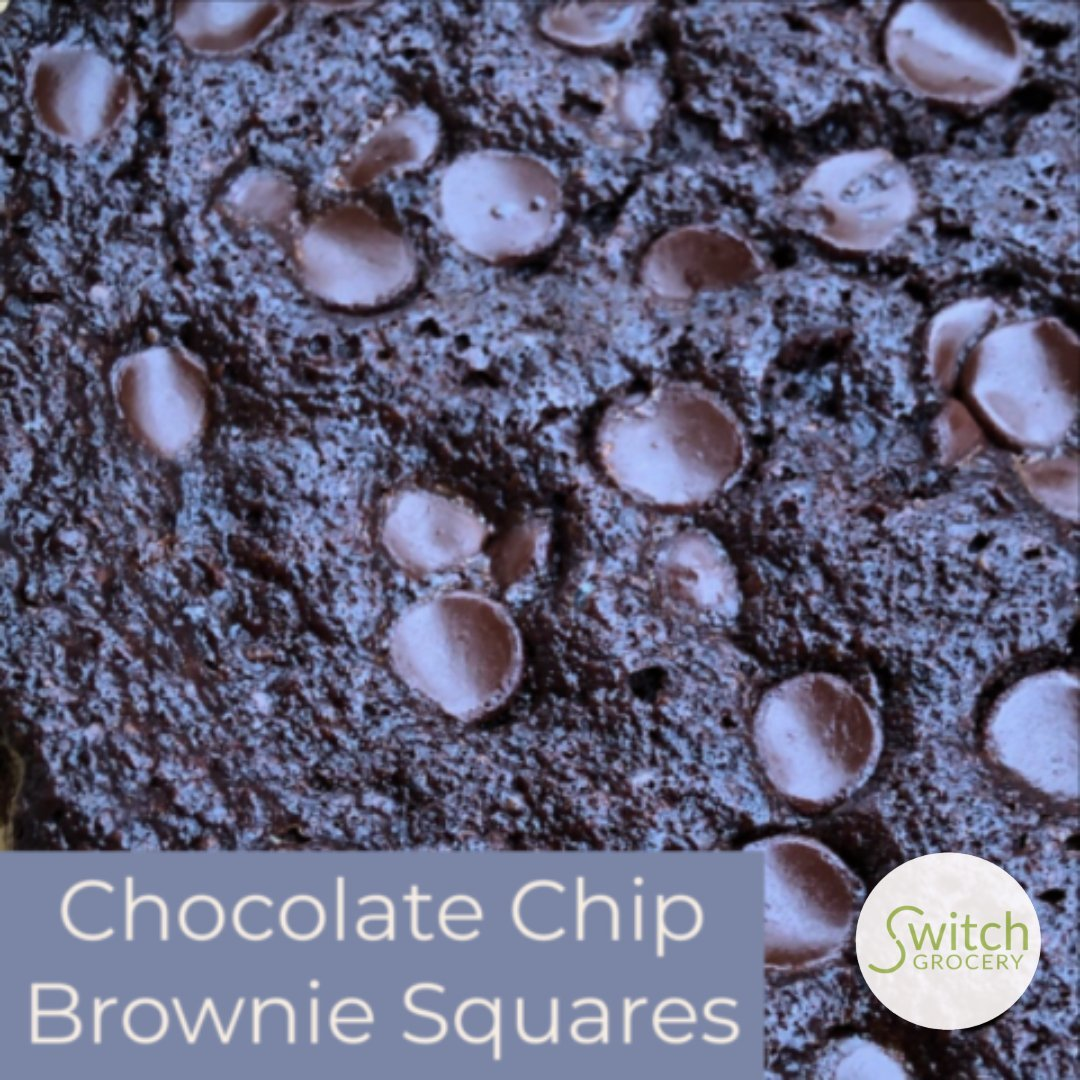 Sugar Free Chocolate Chip Grain Free Brownie Squares