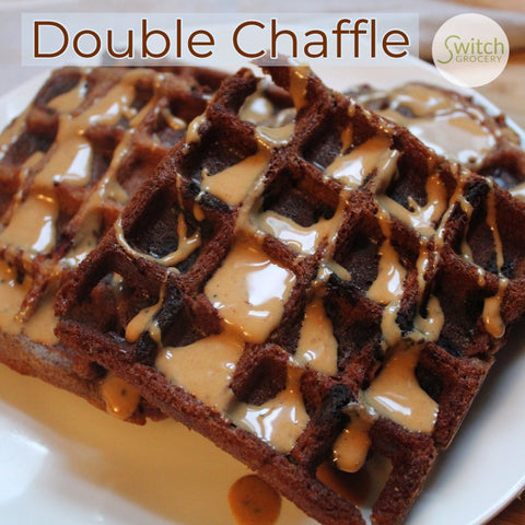 Double Chaffle: Chocolate Low Carb Keto Waffles