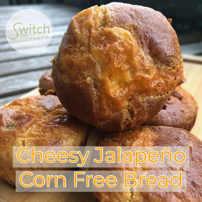 "Cheesy Jalapeño Corn ""Free"" Bread"