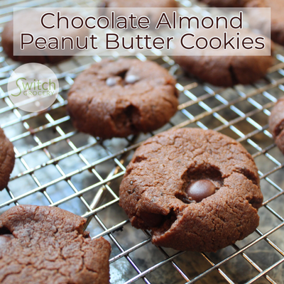 Chocolate Almond Peanut Butter Cookies