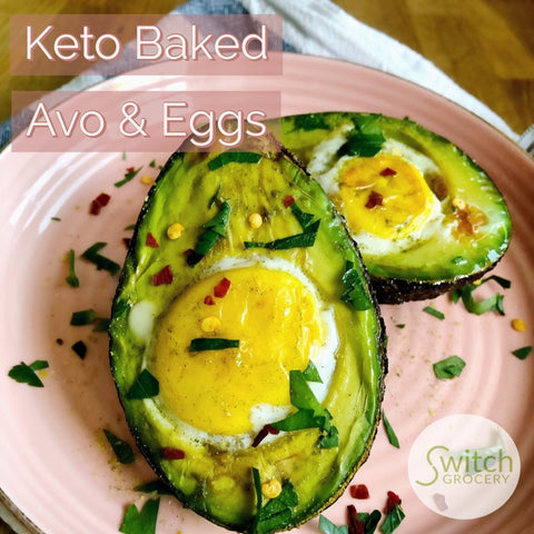 Baked Avocado and Egg with Buyo and Philosophie Green Dream
