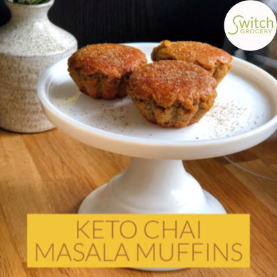 Keto Friendly Grain Free Chai Masala Muffins
