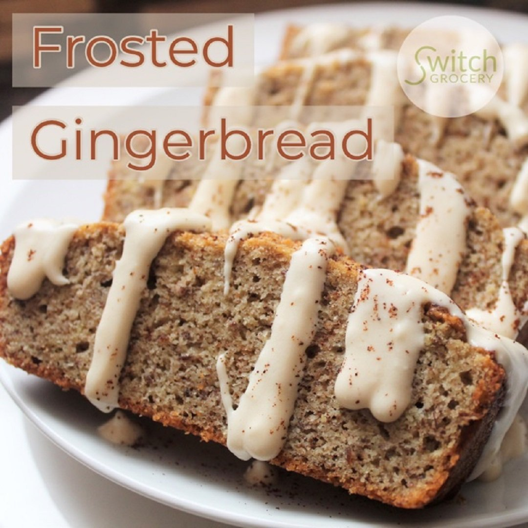 Low Carb Keto Frosted Gingerbread