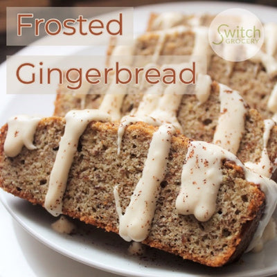 Low Carb, Keto Frosted Gingerbread