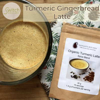 Low Carb Sugar Free Turmeric Gingerbread Latte