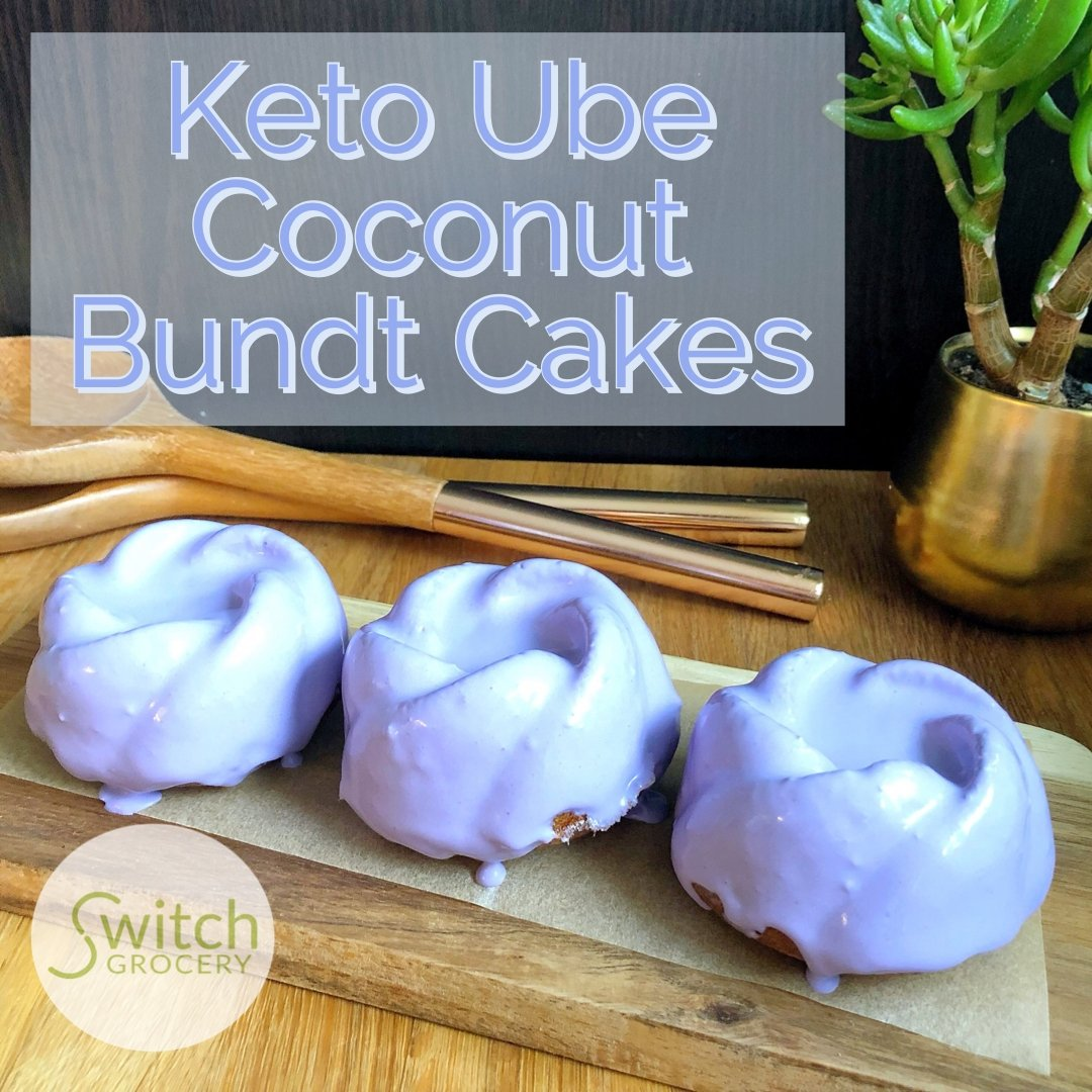 Low Carb Keto Ube Coconut Bundt Cakes