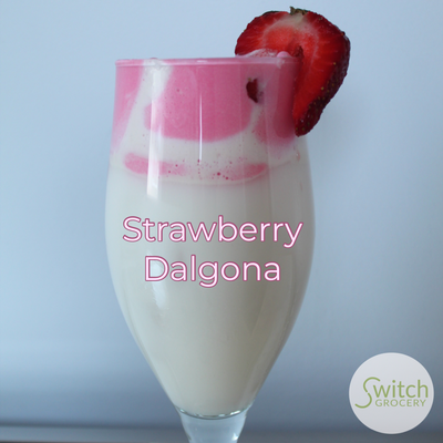 Strawberry Dalgona Drink