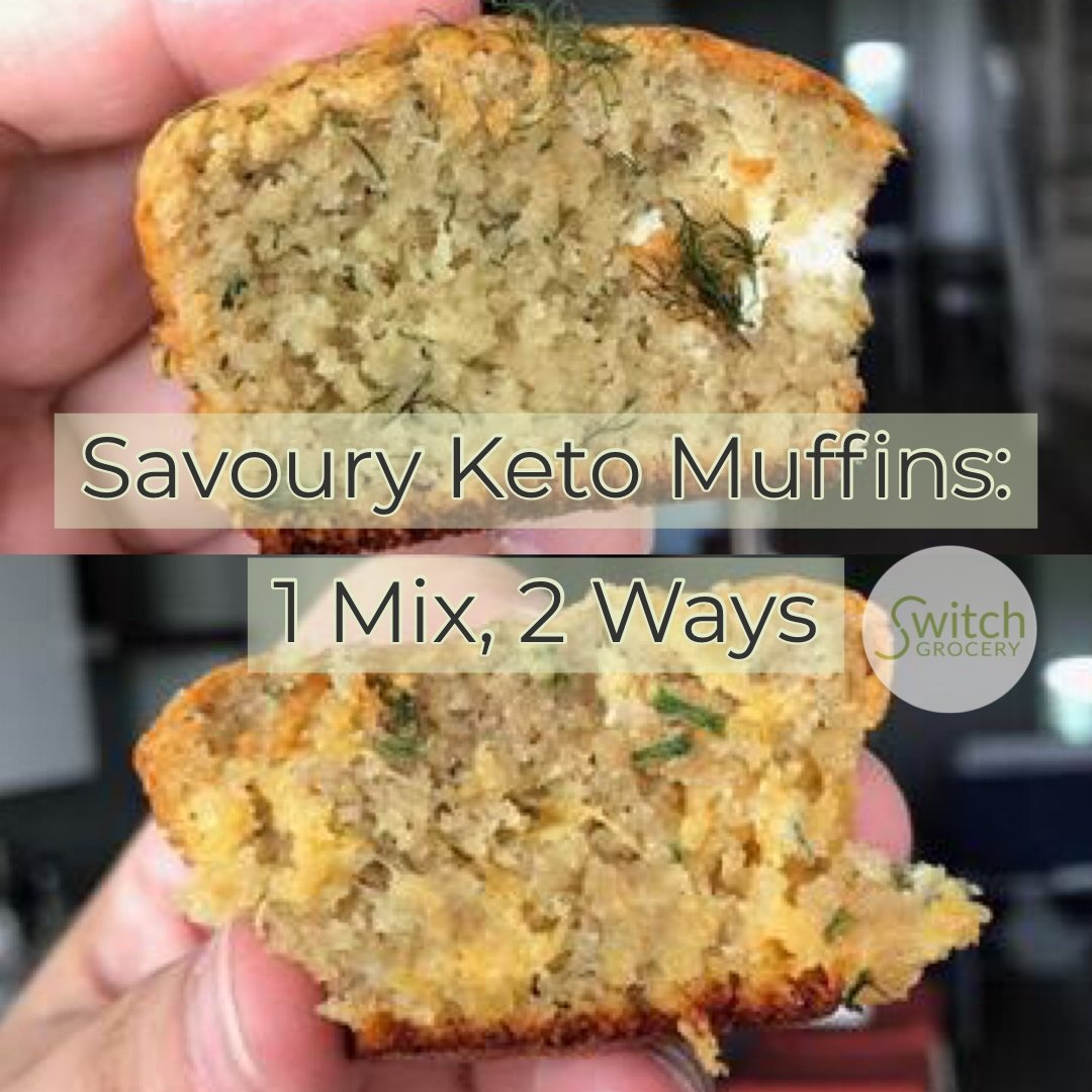 Savoury Keto Muffins: Chive and Cheddar | Dill and Goat Cheese