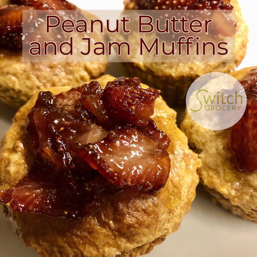 Sugar Free Peanut Butter and Jam Muffins