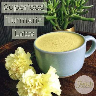 Sugar Free, Superfood Turmeric Latte: 2 Ways