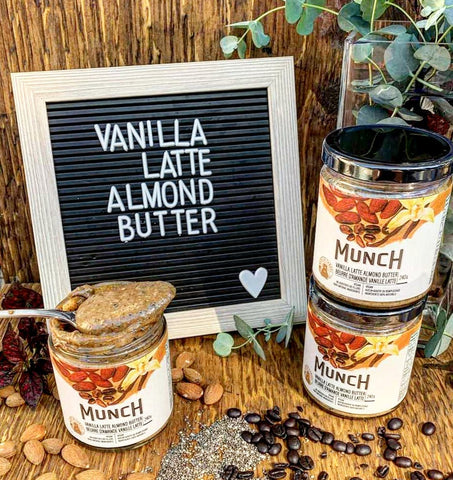 Munch Life nut butters vanilla latte, tropical, and macadamia nut butter gift bundle SwitchGrocery Holiday collection 2020