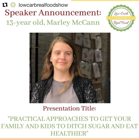 13 year old speaker how to kick sugar and eat health as a family SwitchGrocery Low Carb Real Food Show Toronto