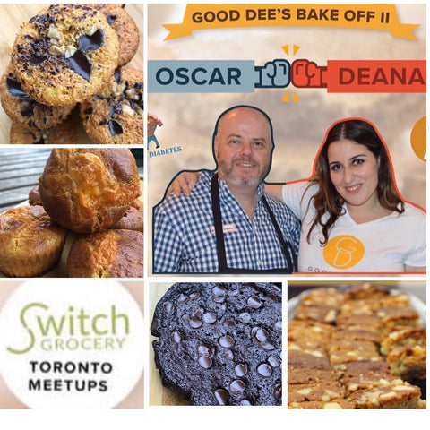 SwitchGrocery Canada keto meetup founder of Good Dee's Deana and Oscar from ihackeddiabetes bakeoff