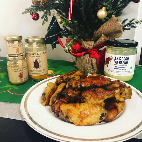 Lee's Ghee 50/50 blend with Jaswant's Kitchen for TruLocal Chicken Wings