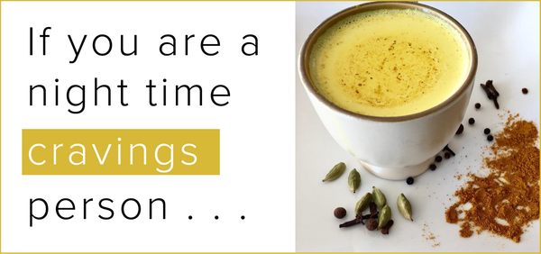 night time cravings with Jaswant's Kitchen Turmeric Latte Spice Blend on SwitchGrocery Canada