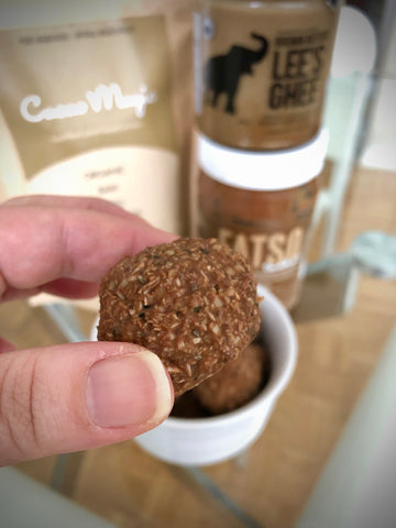 Close up - Keto Friendly Cacao Superfood Protein Balls