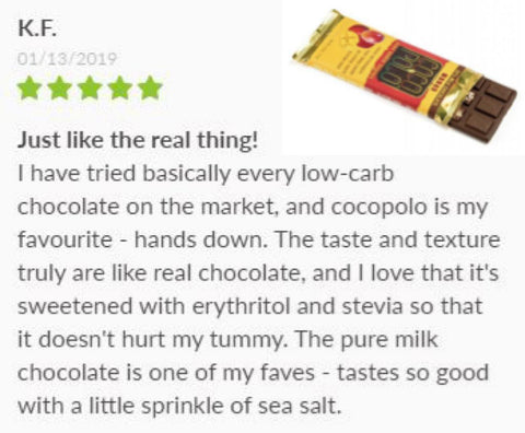 Coco Polo Sugar Free Keto Chocolate Review on SwitchGrocery