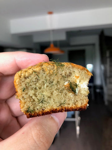 Keto savoury muffins using Good Dee's low carb Muffin Mix