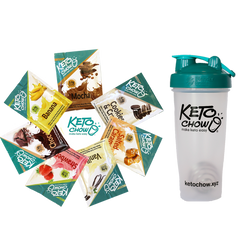 Keto Chow Sample Pack and Bottle Shaker on SwitchGrocery Canada