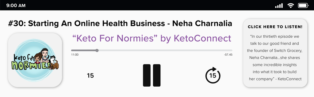 Keto for Normies - Starting an online business - Neha Charnalia