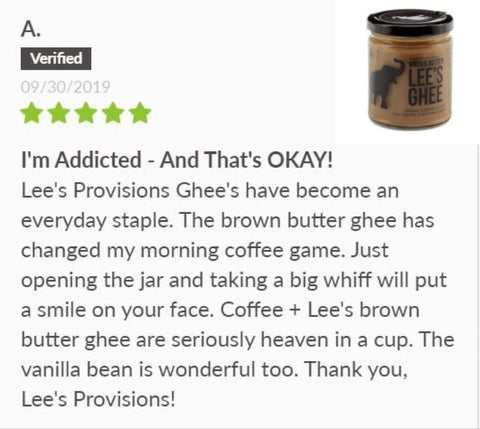 Lee's Ghee Brown Butter Review on SwitchGrocery Canada