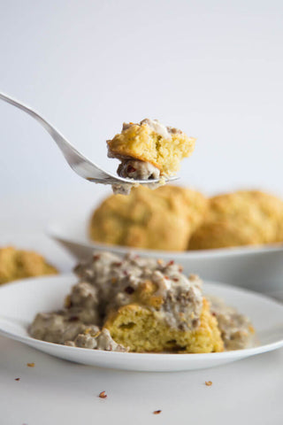 low carb keto gravy biscuits