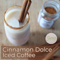 Starbucks Cinnamon Dolce Iced Coffee with Keto Chow on SwitchGrocery Canada