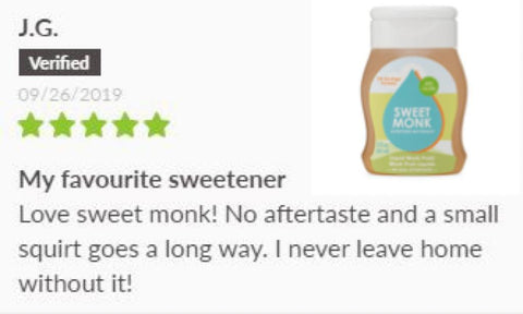 SweetMonk Keto sweetener Monk Fruit Review