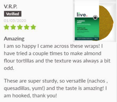 Live wrap keto turmeric review