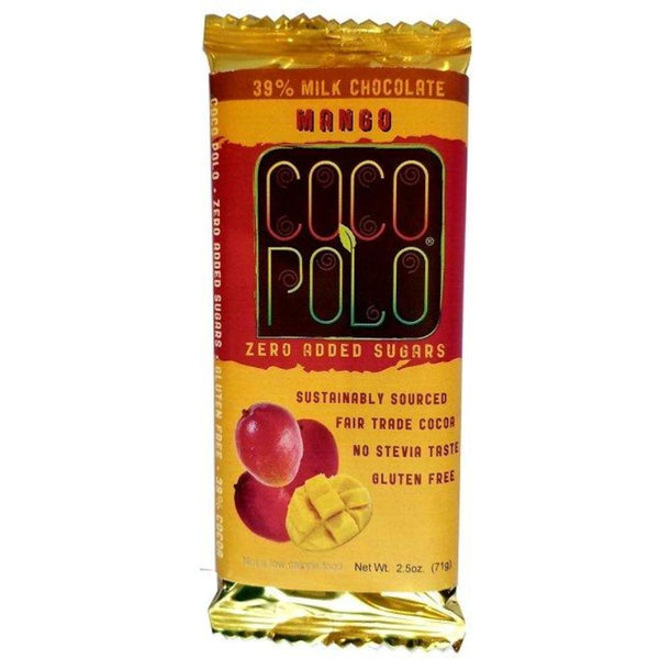 Coco Polo Sugar Free Diabetic Friendly Milk Chocolate with Mango on SwitchGrocery