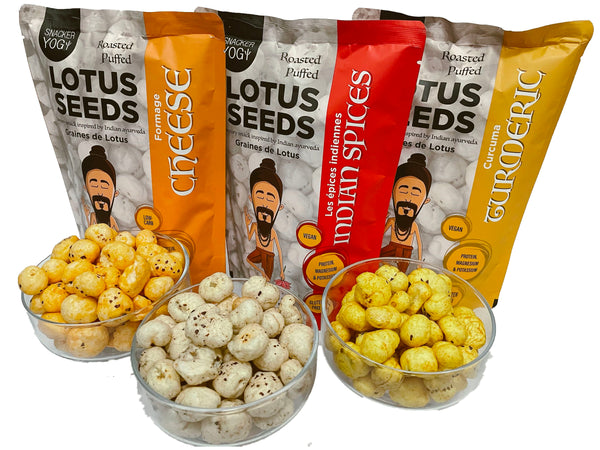 Snacker Yogi Puffed Lotus Seeds Tasting Bundle