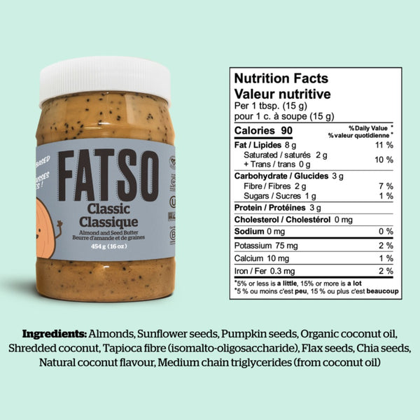 Fatso Classic Almond and Seed Butter on SwitchGrocery